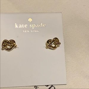 Kate Spade! Heart Knot Stud Earrings